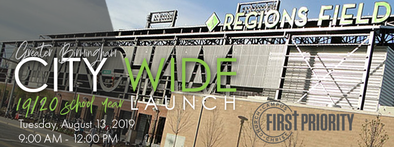 CityWide Launch 2019 - Regions event header with date