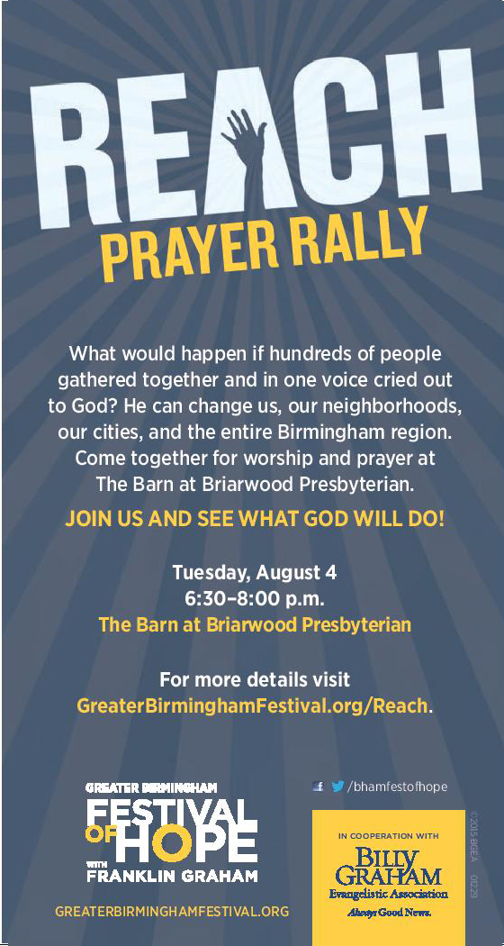 join us for the reach prayer rally