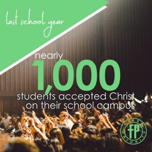 Nearly 1,000 students profess Christ during 2019-2020 School Year